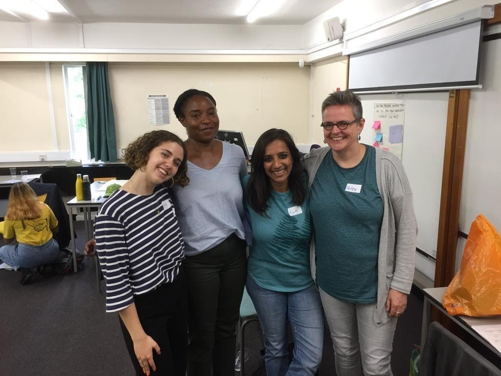 Photograph of Ella with her fellow organisers of Decolonising the Curriculum.